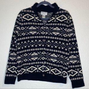 Pendleton Black White  Cotton Sweater Medium
